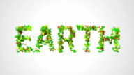 Earth Green leaves particles butterfly looping animation video