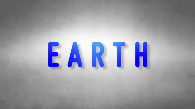 Earth headband. Text from sand. With black background video