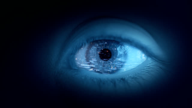 Earth in eye video