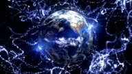 Earth in Particles Background video