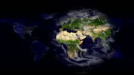 Earth map Day and Night video