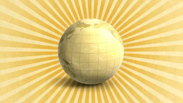 Earth Map Globe Rotation (HD 1080) video