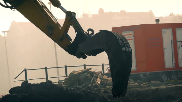 Earth Movers In Cinematic Lighting video