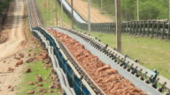 Earth moving by conveyor. video