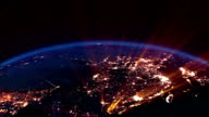 Earth night. Asia. video