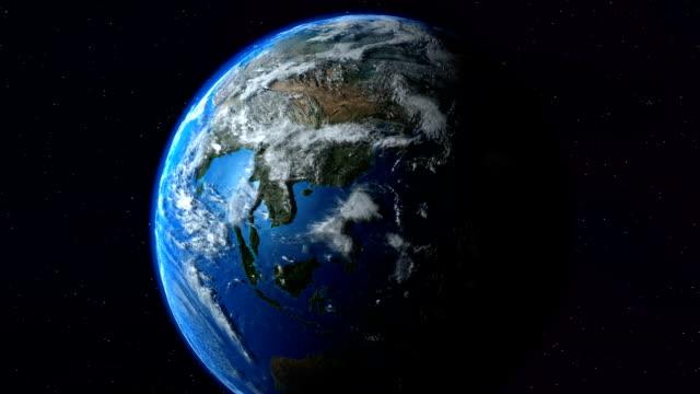 Earth North America zoom. Tierra América Norte. video