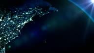 Earth planet by night - LOOP video