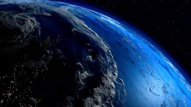 Earth planet loop. La Tierra sinfin. video