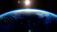 Earth rotation 360 degrees with the Sun. video