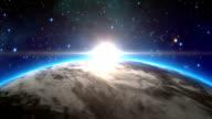earth sunrise cg image movie video
