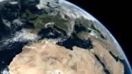 Earth Top Q1 Africa Europe Atlantic Ocean video