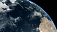 Earth Top Q2 Africa Europe Atlantic Ocean North America video