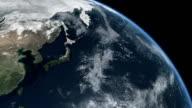 Earth Top Q6 Pacific Ocean Asia video