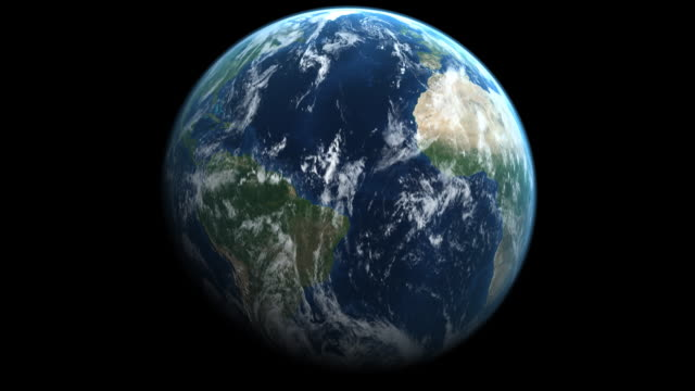 Earth With Correct Rotation video