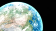 Earth with GPS areas video