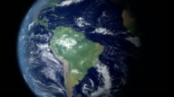 Earth zoom centered on Brazil  (with alpha matte) video