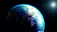 Earth's rotation and the night lights video