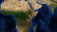 East Africa from space zoom video