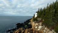 East Coast Lighthouse Aerial video