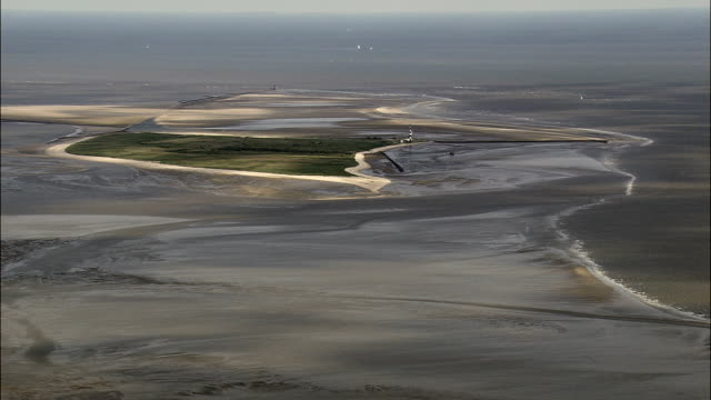 East Frisian Islands And Sand Bars  - Aerial View - Lower Saxony,  Germany video