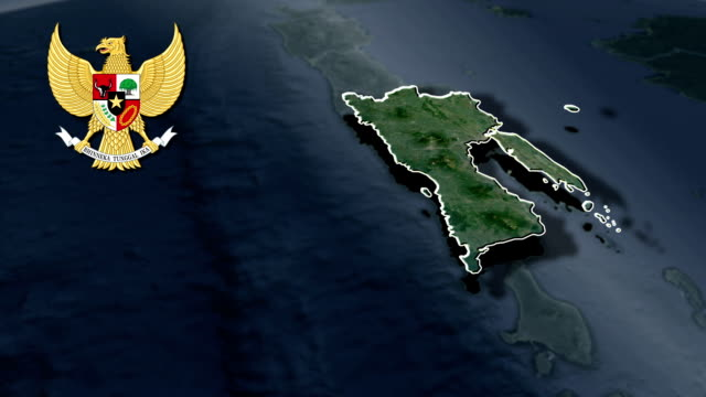 East Java with Coat Of Arms Animation Map video
