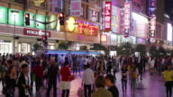 East Nanjing road in Shanghai video