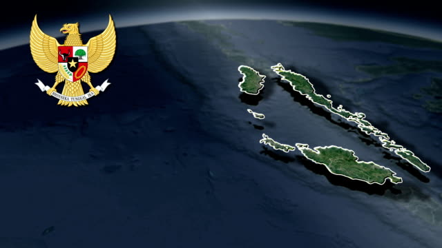 East Nusa Tenggara with Coat Of Arms Animation Map video