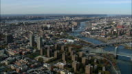 East River From 200Ft - Aerial View - New York,  Kings County,  United States video