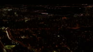 AERIAL: East Village, Brooklyn and Lower Manhattan beautiful cityscape at night video
