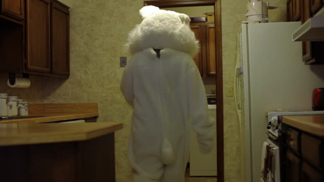 Easter bunny looks in frig for carrots video