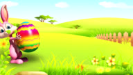 Easter bunny with big egg video