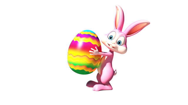 Easter bunny with big eggs video