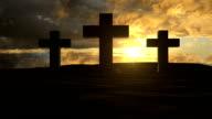 Easter Crosses On Hilltop video