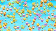 Easter eggs balloons video