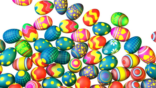 Easter isolated background video