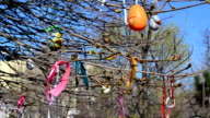 Easter, the decorated tree video
