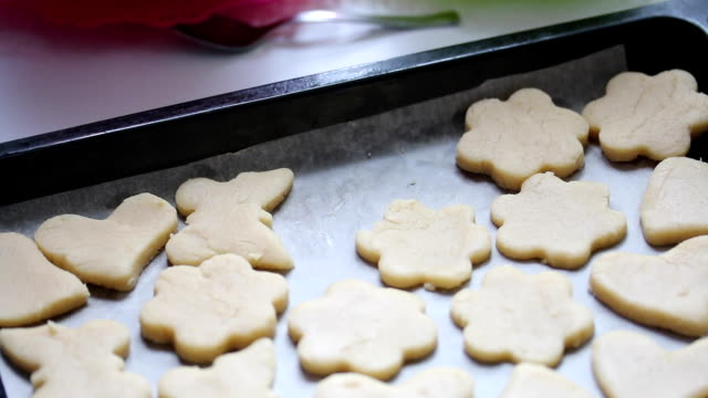 Eastern Europe: Lifestyle. Preparation of baking cookies at home. video