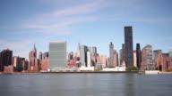 eastside manhattan 4k time lapse from day light new york city video