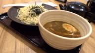eating ramen japanese noodle in 4k video