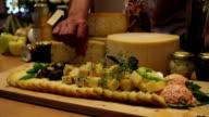 HD MACRO: Eating served cheese video