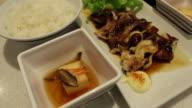 Eating squid japanese food video
