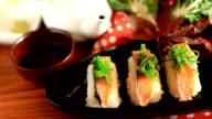 Eating Sushi Maki. video