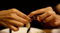 Eating Thai Food video