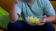 Eating while watching the game video