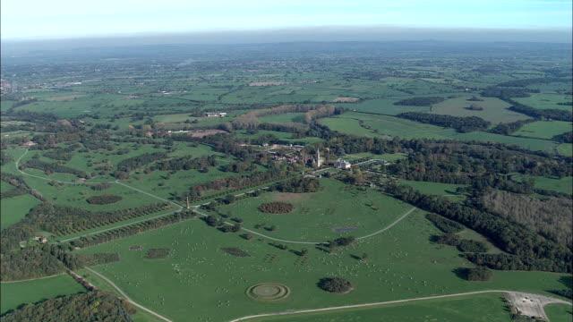 Eaton Hall  - Aerial View - England, Cheshire, United Kingdom video