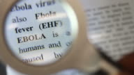 Ebola definition under a magnifier video
