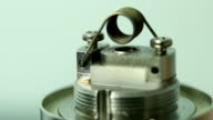 E-cigarette Coil Heating Up - Macro Shots video