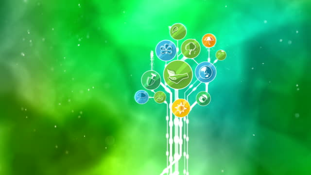 Ecological Icons Tree. Environment, Green Planet video