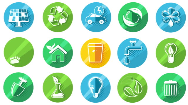 Ecology Concept Icon Set video