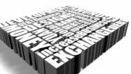 Economic vocabulary consists of cubic box. video